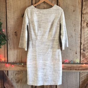 Old Navy Light Grey Marlee Gathered Waist Dress